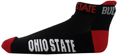 Donegal Bay NCAA Ohio State Buckeyes Footie Socken, One Size, Rot (Buckeyes Ohio Männer Schuhe State)