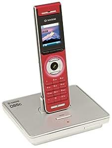 Sagem Téléphone sans fil D86C écran rétro-éclairé couleur DECT/GAP Rouge
