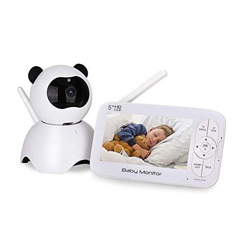 HBIAO Vigilabebés Inalambrico, 720P Monitor de bebé de Video en Tiempo Real con Alarma de Temperatura...