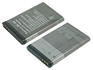 Replacement Battery (BL-5c) for Nokia: 1100, 1101, 1110, 1112, 1200, 1208, 1209, 1600, 1650, 1800, 2300, 2310, 2323 Classic, 2330 Classic, 2600, 2610, 2626, 2700 Classic, 2710 Navigation Edition, 2730 Classic, 3100, 3109 Classic, 3110 Classic, 3110 Evolve, 3120, 3610 Fold, 3650, 3660, 5030, 5130 XpressMusic, 6030, 6085, 6086, 6230, 6230i, 6267, 6270, 6555, 6600, 6630, 6670, 6680, 6681, 6820, 6822, 7600, 7610, C1 00, C2, E50, E60, N-Gage, N70, N71, N72, N91