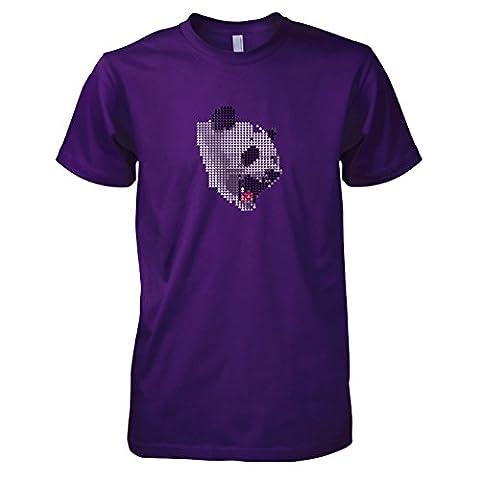Krysom - Triangle Panda - Herren T-Shirt, Größe XXL, violett (Künstler Kostüm-ideen)