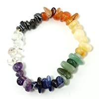Features polished chips each representing the seven chakra areas