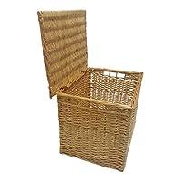 Buff Willow Wicker Deep Storage Chests/Lids / Baskets/Trunk / Hamper