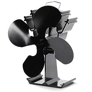kenley ventilateur pour foyer de po les bois fonctionnement sans lectricit 4 fl gel. Black Bedroom Furniture Sets. Home Design Ideas