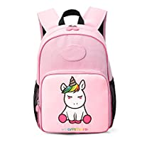 mommore Unicorn School Bags for Girls Kids Backpack Toddler Bag for 3-7 Kid with DIY Name Tag