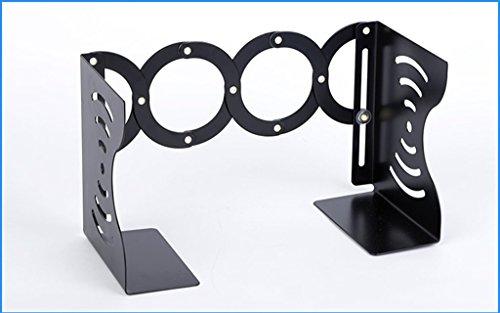DFHHG® Libro Libro Estantería Telescópica Metal Hollow Creative Student 135 * 167 * 95 / 380mm Negro durable ( Color : Negro )