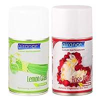 Airance Room Freshner Spray Aroma Perfume Refill Lemon Grass & Rose Petals - 250 ML - Pack of Two - Fit All Machines Using 250 ML / 300 ML Bottles