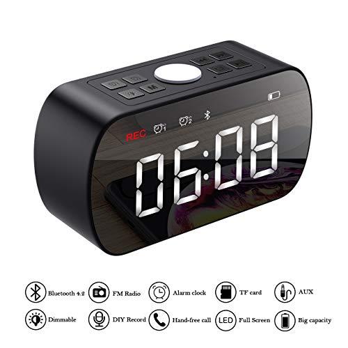 ERAY Altavoz Bluetooth + Despertador Digital