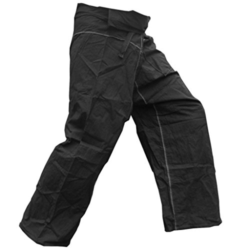 PANASIAM Fisherman Pants 'Stripe Design', Farbname:Schwarz, Größe:XL -