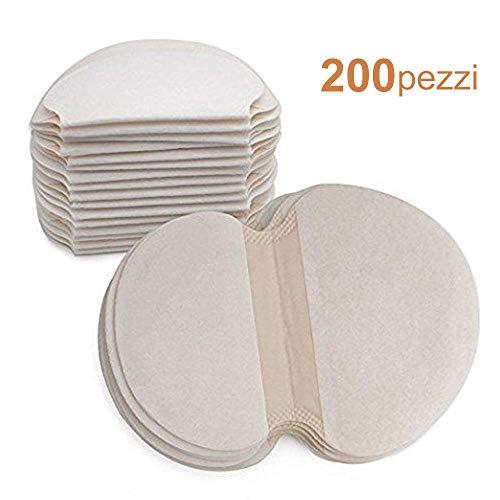 Centtechi 200 pezzi monouso sudore assorbimento pad ascella traspirabilità antitraspirante sweat tamponi deodorante morbido assorbente combatti l'iperidrosi per uomini e donne