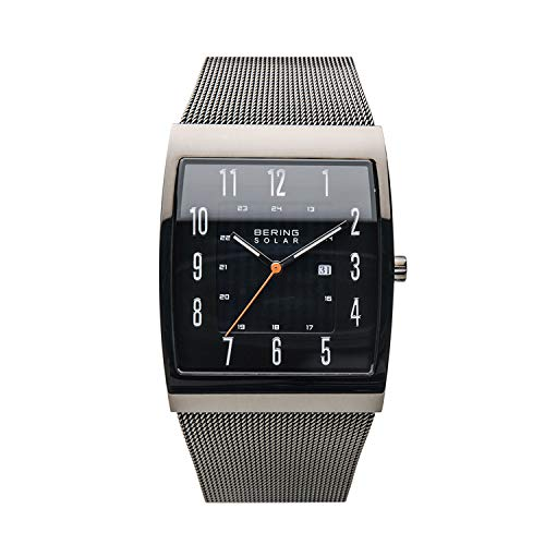 bering orologio analogico solare uomo con cinturino in acciaio inox 16433-377