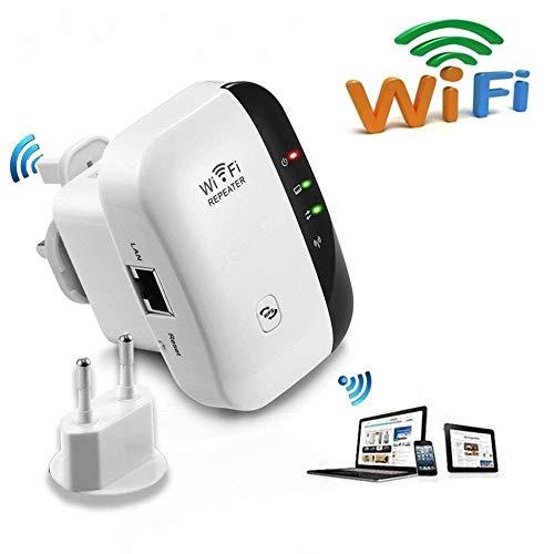Extensor de red WiFi 300Mbps Mini Wireless Extensor de Rango Inalámbrico AP...