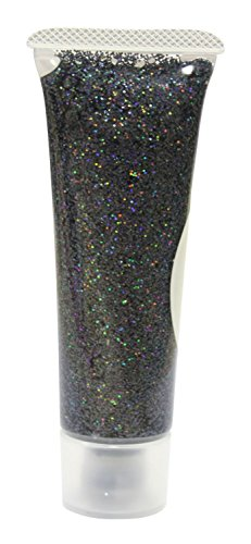Eulenspiegel 907153 - Effekt Glitzergel 18 ml, Schwarz - Juwel