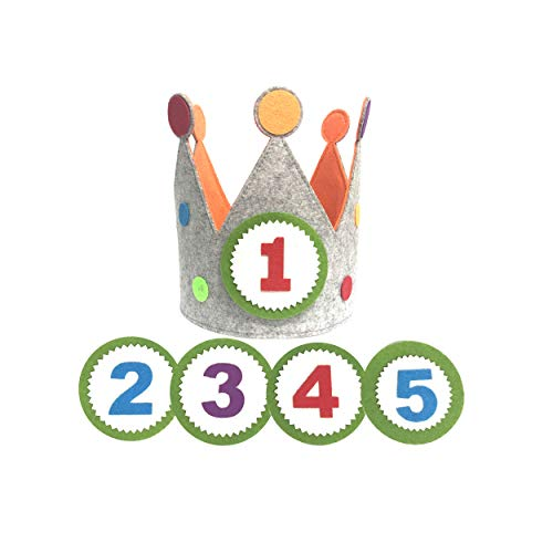 Clan Toys Corona para cumpleaños o Fiestas Infantiles con números del 1 al 5 (Círculo)