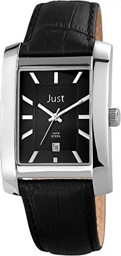 Just Watches 48-S6355-BK - Orologio da polso da uomo, cinturino in pelle colore nero