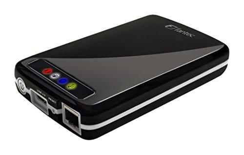 Preisvergleich Produktbild FANTEC MWiD25 Mobiles WLAN Festplattengehäuse (6,35cm (2,5), USB 3.0, Akku integriert) schwarz