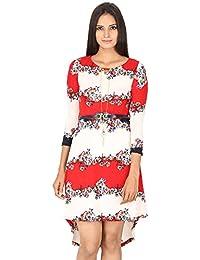FRANCLO Women's High Low dress( best fit 30-34 bust)