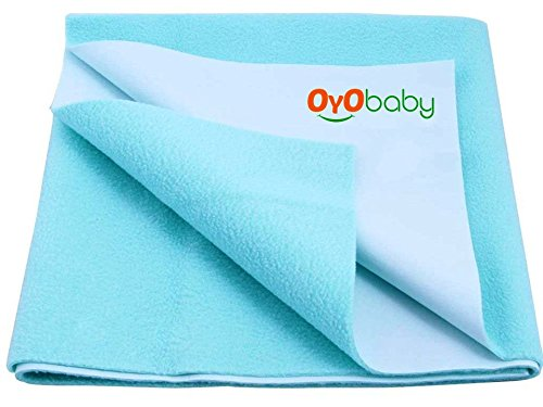 OYO BABY - Quickly Dry Super Soft, Dry Waterproof Bed Mattress Protector,Sea Blue,S (70cm X 50cm)