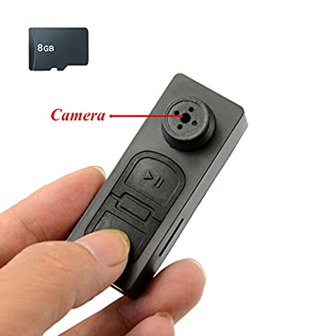 Mengshen 8 Go HD Mini DV bouton style espion caché caméra vidéo enregistreur audio DVR sécurité caméscope numérique