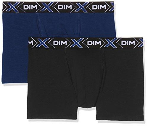 Dim X-Temp Boxer X2 Shorty Homme, Multicolore (Bleu Marin/ Noir), X-Large (Taille Fabricant: 5) (lot de 2)
