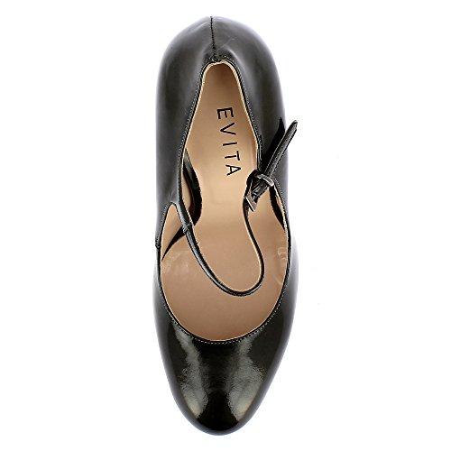 Evita Shoes Cristina, Scarpe col tacco donna Grigio scuro