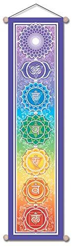 "Mandala Arts 6 ""X 24"" Pequeña pancarta de Chakra ""Bandera del Chakra del arco iris"" de Bryon Allen (CB01) Mandala Arts 6"" X 24"" Small Chakra Banner ""Rainbow Chakra Banner"" by Bryon Allen (CB01)"