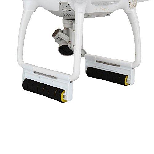 Anbee 1 Paar Fahrwerk Schutz Stoßstange Höhe Extender Satz mit Stoßdämpfende Schwamm für DJI Phantom 4 Quadcopter