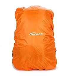 TREKOO Copertura per Zaino Applicare a 40-60L (Arancione)