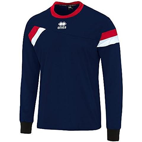 Errea - Maglia Maniche Lunghe da Calcio con Bande colorate - (Navy Ago)