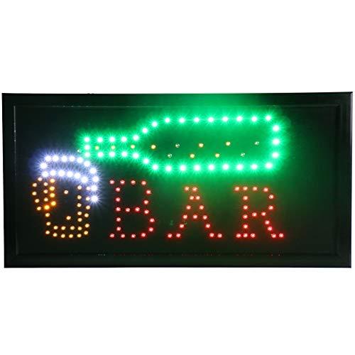 CHENXI Neuf Animés Barre/Bière/vin/Liqueur Neon LED Magasin Ouvert Signe 48,3x 25,4cm (48x 25cm) on Off Switch + Chaîne de Suspension Beaucoup de Styles de Bar à Bière Pub Moderne 48 X 25 CM Y