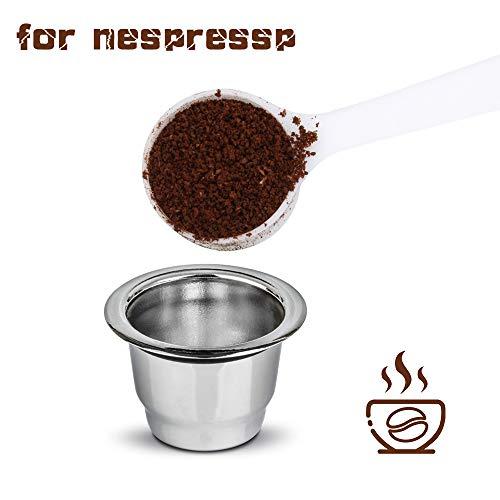 Konesky Cápsulas de Café Reutilizables, Acero Inoxidable Recargable Reemplazo Cápsulas de Filtro...