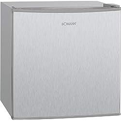 Bomann GB 341 Congélateur/A++ / 51 cm de hauteur / 117 kWh/an / 31 litres de congélateur / R600a / aspect acier inoxydable