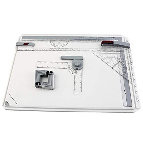 HoganeyVan Tragbarer A3-Reißbrett-Tisch mit parallel beweglicher, winkelverstellbarer Zeichner-Palette für Malwerkzeuge (Zeichner Tisch)