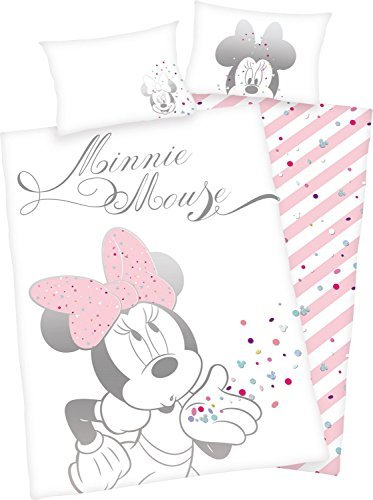 Bettwäsche Herding glatt Minnie Mouse Maus Dream 100 x 135 cm Geschenk NEU WOW - All-In-One-Outlet-24 -