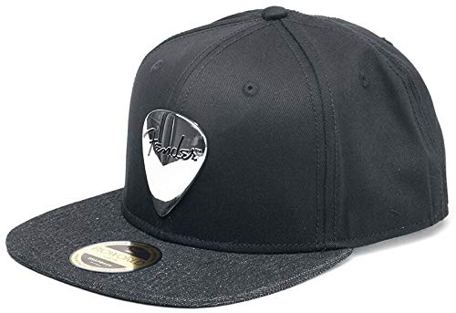 Fender Cap Black Snapback With Metal Badge Black