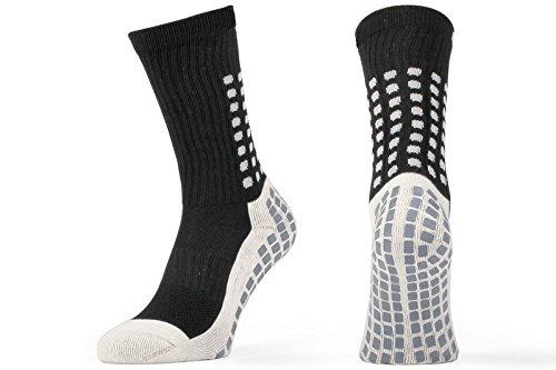 Calcetines deportivos, antideslizantes, almohadillas de goma, color negro, tamaño UK 5.5 - 11