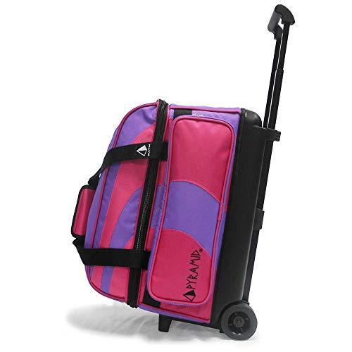 Bowlingtasche mit 2 Rollen, Path Deluxe Double Roller, Purple/Hot Pink ()