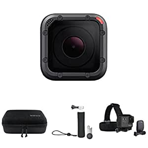 GoPro HERO5 Session Action Camera with Casey, Floating Grip and Head Strap