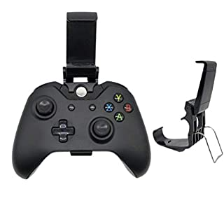 HEMOBLLO 2-teiliger universeller Gamecontroller unterstützt die Xbox One Gamecontroller-Halterung für Gamecontroller (schwarz)