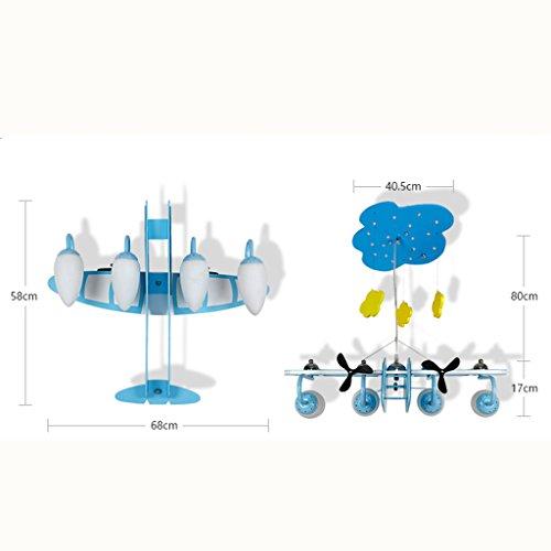 Guo Kinderzimmer-Lichter Jungen-Schlafzimmer-Flugzeug-Lichter Kronleuchter-Pers5onlichkeit-kreative Legierungs-Lampen E14 Lampen-Hafen - 5