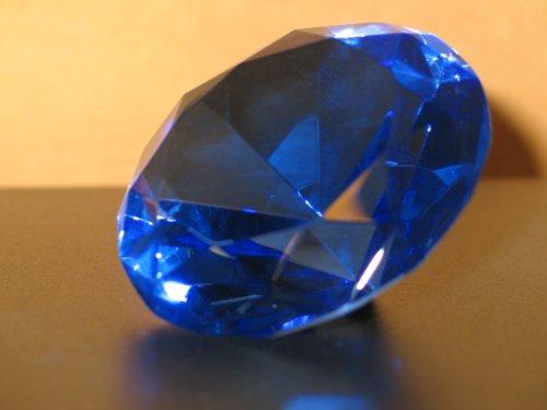 """Dekokristall Dekorationselement """"Glas-Deko-Kristall"""" D10cm Dekostein Briefbescherer Tischdekoration"""