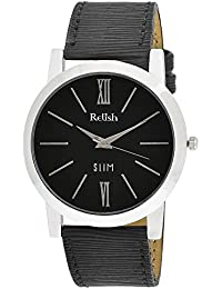 RELISH RE-S8024SB SLIM Black Dial Analog Watch For Mens & Boys
