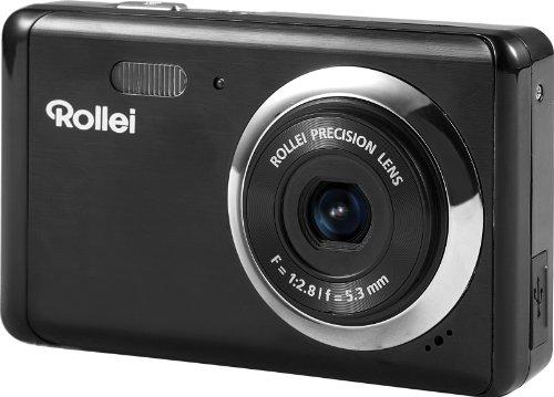 Rollei Compactline 83 Digitalkamera (8 Megapixel CMOS Sensor, 8-Fach dig. Zoom, 6,9 cm (2,7 Zoll) LCD-Display, Panorama-Funktion, Multi-Schnappschuss-Funktion) schwarz