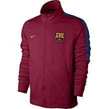 2017-2018 Barcelona Nike Authentic Franchise Jacket (Red) 782c3c0bdb6
