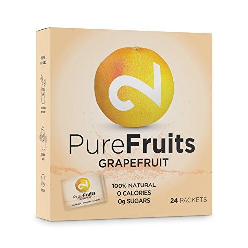 DUAL Pure Fruits Grapefruit  100% Naturels Du Vrai Jus de Pamplemousse Enrichi en Vitamine C   24 Sachets  2g par Sachet 52 Litres de Jus Lab Certifié Sans Sucre  Sans Additifs Fabriqué dans l'UE
