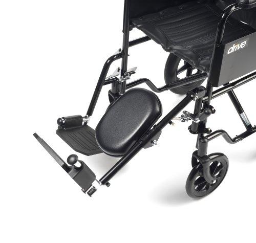 Drive Medical ELR001L Rollstuhl-Fußstütze/Fußerhöhung, Stahl, links (Stahl-rollstuhl)