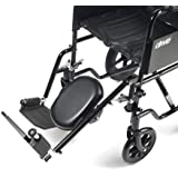 Drive Medical ELR001L - Soporte para pie (para silla de ruedas, acero, para pierna izquierda)