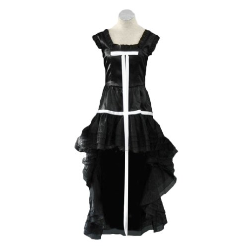 Chobit Kostüm - Dream2Reality japanische Anime Chobits Cosplay Kostuem - Chii Black Dress 1st Ver Kid Size Large