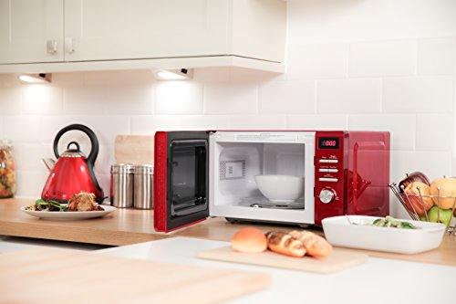 Russell Hobbs RHM2064R Heritage Digital 800w Solo Microwave, 20 Litre – Red
