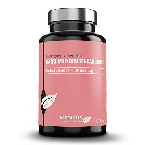 Natriumhydrogencarbonat von Dr. Krieg Nahrungsergänzungsmittel für eine basische Ernährung, bei Übersäuerung & Sodbrennen, für Magen & Körper, 90 Kapseln